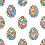 Easter eggs seamless pattern. Abstract holidays background in modern style. Easter eggs seamless pattern. Abstract holidays background stock illustration