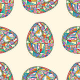 Easter eggs seamless pattern. Abstract holidays background in modern style. Easter eggs seamless pattern. Abstract holidays background royalty free illustration