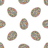 Easter eggs seamless pattern. Abstract holidays background in modern style. Easter eggs seamless pattern. Abstract holidays background vector illustration