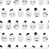 Easter eggs seamless pattern background. Stock Images