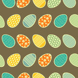 Easter eggs seamless pattern. Royalty Free Stock Photos