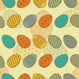 Easter eggs seamless pattern. Royalty Free Stock Images
