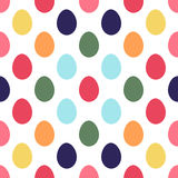 Easter eggs seamless pattern. Colorful easter eggs seamless pattern. Vector illustration. All over print royalty free illustration