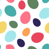 Easter eggs seamless pattern. Easter seamless pattern with multicolored eggs randomly distributed on a white background vector illustration
