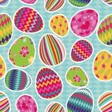 Easter eggs seamless pattern Stock Photos