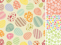 Easter eggs seamless pattern set.Silhouette Royalty Free Stock Photo