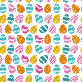 Easter eggs seamless pattern Royalty Free Stock Photography