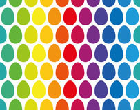 Easter Eggs Seamless Rainbow Pattern Stock Photography
