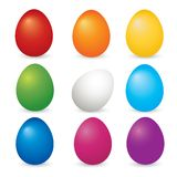 Easter eggs set  Stock Photos