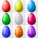 Easter eggs, set Stock Photography