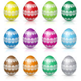 Easter eggs set Stock Photo