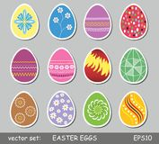 Easter eggs set Stock Image