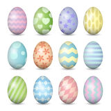Easter eggs set. Every color used in the making Royalty Free Stock Photography