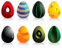 Easter eggs set Royalty Free Stock Photo