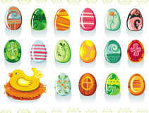 Easter eggs set Stock Photography