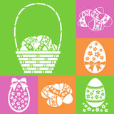 Easter eggs set Royalty Free Stock Photos