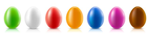 Easter eggs set, collection of colored eggs, Easter symbol -. Stock vector illustration