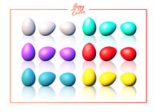 Easter eggs set. Set of color eggs. Realistic vector illustration. Easter collection vector illustration
