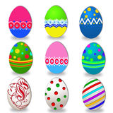 Easter Eggs Set. Colorful illustration Royalty Free Stock Photography
