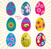 Easter eggs set Royalty Free Stock Photography