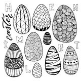 Easter eggs set in doodle style. Holiday collection for greeting card design. Vector illustration.  vector illustration