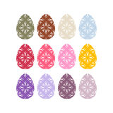 Easter eggs set. Easter eggs on white background. Eggs . Festive traditional eggs for Easter Royalty Free Stock Images