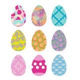 Easter eggs set. Easter eggs on white background. Eggs . Festive traditional eggs for Easter Stock Images