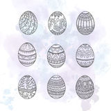 Easter eggs set. Stock Image