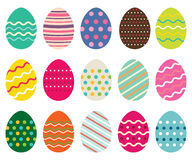 Easter eggs set, isolated design elements Royalty Free Stock Image