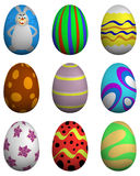 Easter Eggs Set Royalty Free Stock Images