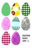Easter eggs set 1 Royalty Free Stock Photography