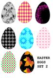 Easter eggs set 2 Royalty Free Stock Images