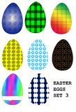 Easter eggs set 3 Stock Photography