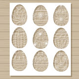 Easter eggs set stencils Stock Images