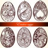 Easter eggs set from swirls. Set of vector Easter eggs for design Stock Image