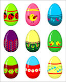 Easter eggs set. Royalty Free Stock Photography