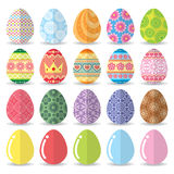Easter eggs set Royalty Free Stock Image