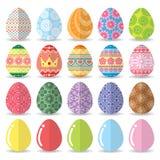 Easter eggs set. Vector illustration, Flat design Royalty Free Stock Image