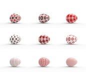 Easter eggs set on white background Stock Photos