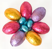Easter eggs in the shape of a flower Royalty Free Stock Images