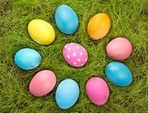 Easter eggs in shape of flower Stock Photos