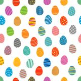 Easter eggs silhouettes seamless pattern Stock Photos