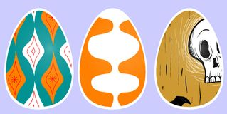 Easter eggs. Small artistic works on pisankach to connect with his own composition Christmas Stock Image