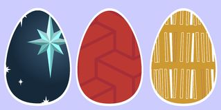 Easter eggs. Small artistic works on pisankach to connect with his own composition Christmas Stock Photos