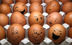 Easter eggs with a smile Royalty Free Stock Photo