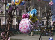 Easter eggs. Souvenirs. April 2014 Royalty Free Stock Photography