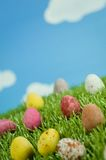 Easter Eggs in Spring Royalty Free Stock Photos