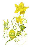 Easter eggs, spring. Colorful Easter eggs, green spring time collection Stock Photo