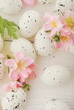 Easter eggs. And spring flowers Royalty Free Stock Photo