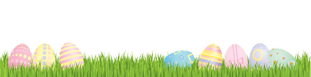 Easter eggs with spring grass Stock Photography